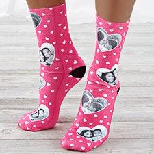 My Valentine Personalized Photo Socks - 26632