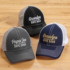 Established Grandpa Custom Embroidered Trucker Hats - 26637
