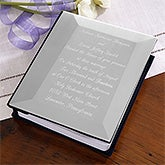 Engraved Silver Wedding Invitation Photo Album  - 2665