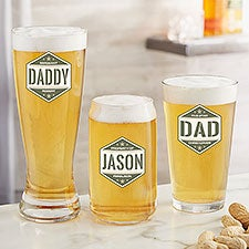 Five-Star Dad Personalized Beer Glasses - 26683