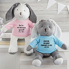 Personalized Plush Bunny Stuffed Animal - 26713