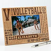 Personalized Volleyball Picture Frame - 4x6 Photo - 2673