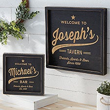 Brewing Co. Personalized Distressed Black Wood Frame Wall Art - 26770