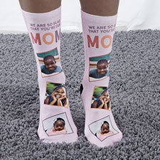 Glad You're Our Mom Personalized Photo Socks - 26811