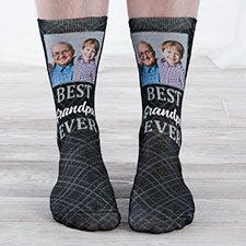 Best Grandpa Ever Personalized Photo Socks - 26817