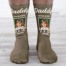 Established Dad Personalized Photo Socks - 26818