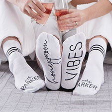 Honeymoon Vibes Personalized Socks - 26883
