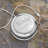 Personalized Silver Plated Yo-Yo - Engraved Free - 2690