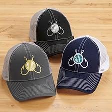 Fishing Monogram Custom Embroidered Trucker Hats - 26918