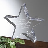 Personalized Birthday Star Sculpture - You Shine Like a Star Design - 2693