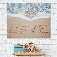 Beach Love Personalized Canvas Tile Wall Decor - 26956