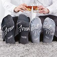 Classic Elegance Personalized Groomsmen Socks - 26977