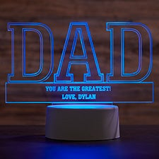 Dad Personalized Acrylic LED Sign - 27071
