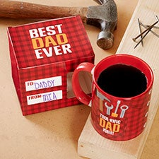 Toolrific Dad Personalized Mug with Coordinating Mug Box - 27135
