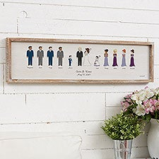 Wedding Party Personalized Wood Wall Art by philoSophie's - 27165