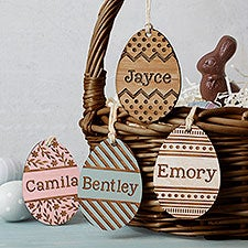 Personalized Wooden Easter Basket Tags - 27192