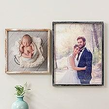 Personalized Rustic Barnwood Frame Photo Wall Art - 27261