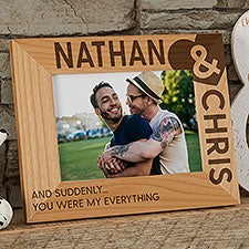 My Heart Engraved Wood Picture Frames - 27332