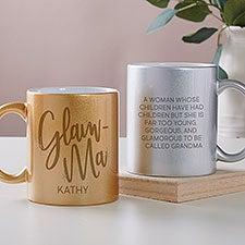 GlamMa Personalized Glitter Coffee Mugs - 27366