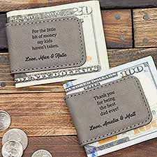 Personalized Magnetic Money Clip - Message For Dad - 27398