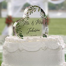 Laurels of Love Personalized Wedding Cake Topper - 27435