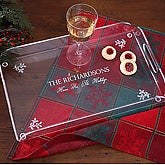 Personalized Holiday Serving Tray - 2744