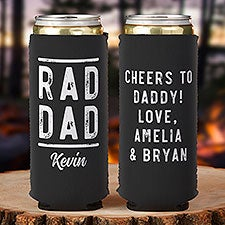 Rad Dad Personalized Slim Can Cooler - 27454