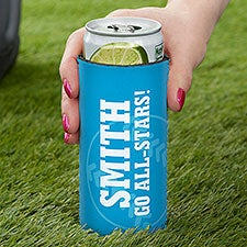 Baseball Personalized Slim Can Cooler - 27539