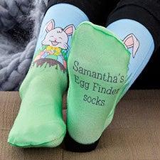 Hoppy Easter Personalized Kids Socks - 27566