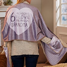 Reasons She Loves Being... Personalized Cuddle Wrap - 27720