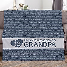 Reasons He Loves Being... Personalized Blankets - 27726
