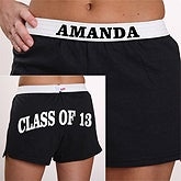 Personalized Girls Athletic Shorts - Graduation Year and Name Design - 2781