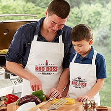 Personalized BBQ Boss Aprons & Potholders - 27947