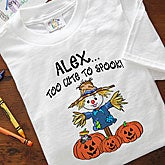 Kids Personalized Halloween Hooded Sweatshirts - Scarecrow