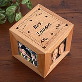 Personalized Wood Photo Cube For Teachers - 2800