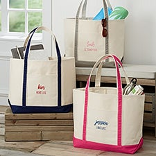 Scripty Style Weekender Embroidered Tote  - 28034