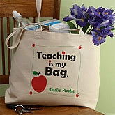 Personalized Teaching Canvas Tote Bag - 2808