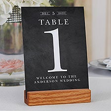 Moody Chic Personalized Wedding Table Number Cards - 28081