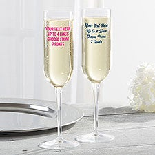 Any Message Personalized Champagne Flutes - 28088