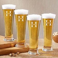 Lavish Last Name Engraved Beer Pilsner Glass - 28102