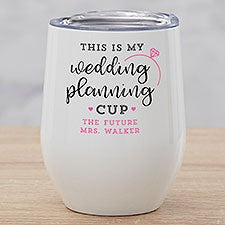 Wedding Planning Engagement Personalized Stemless Wine Cup - 28122