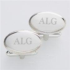 Personalized Silver Cufflinks - Monogram Elite Collection - 2822