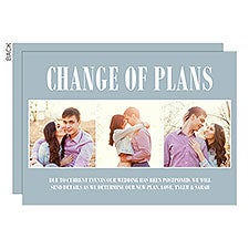 Personalized Change of Plans Wedding Cards - 28306