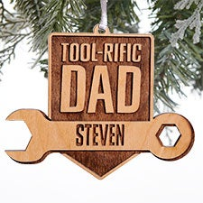 Tool-Rific Dad Personalized Wood Ornaments - 28328