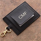 Personalized Leather Luggage Tags - First Class Monogram Design - 2836