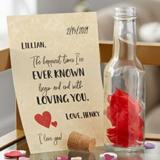 P.S. I Love You Personalized Love Letter In A Bottle - 28361