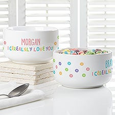 I Cerealsly Love You Personalized Kids Cereal Bowl - 28394