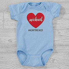 Scripty Heart Personalized Valentine's Day Baby Clothing - 28478