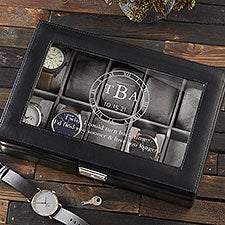Love You Longer Personalized Leather Watch Boxes - 28493