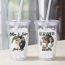 Wedding Photo Message Personalized 17 oz. Insulated Acrylic Tumbler - 28550